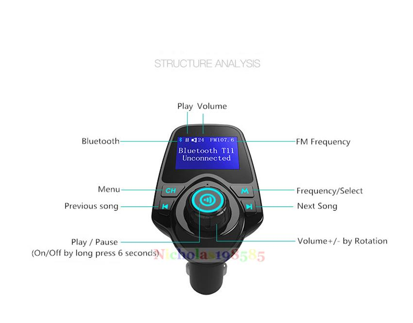instruction manual for mp3 bluetooth fm transmitter