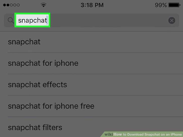 instructions for snapchat on iphone