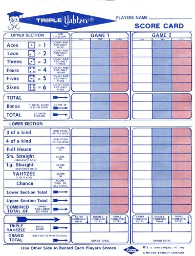 instructions how to play yahtzee game