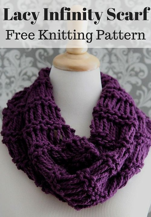 instructions to knit a moebius scarf