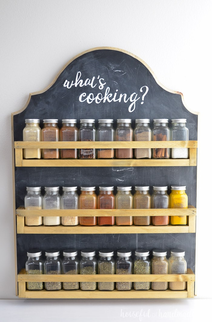 instructions to make a spice rack