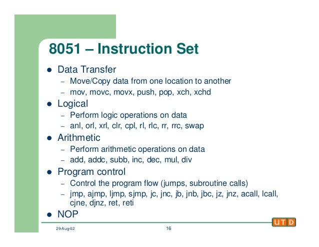jnz instruction in 8051