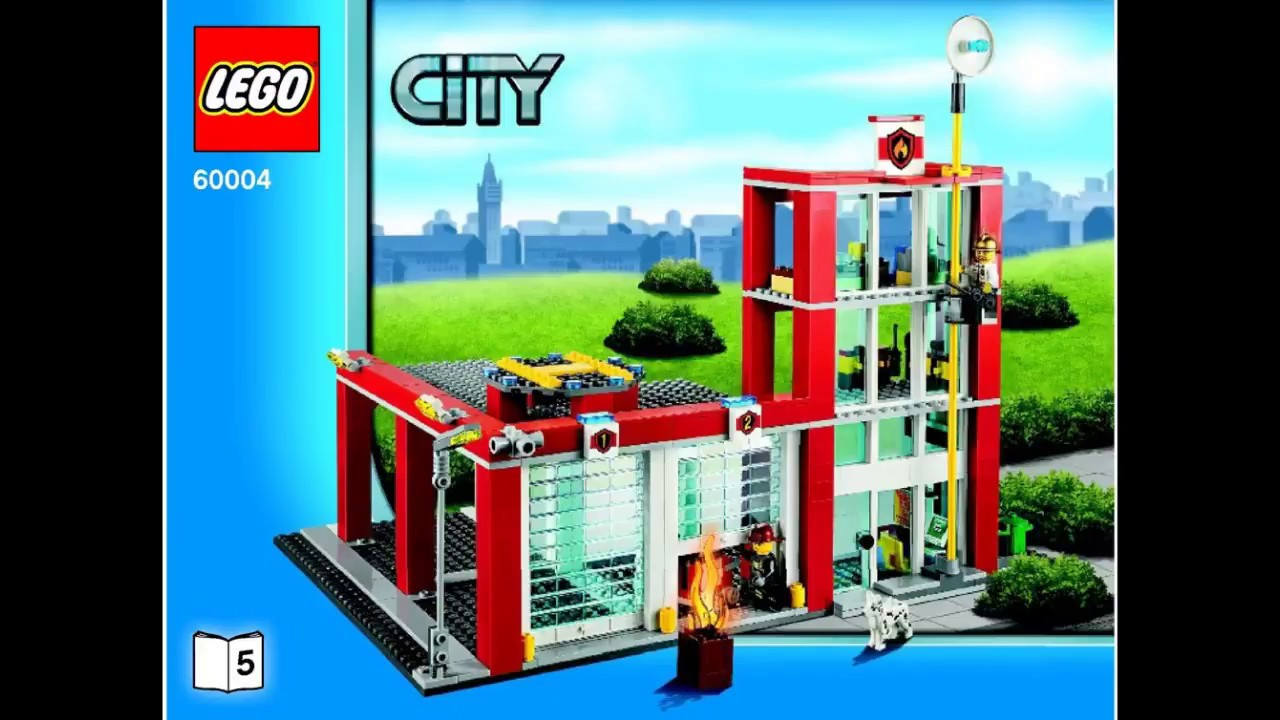 lego city instructions for 60004 fire station