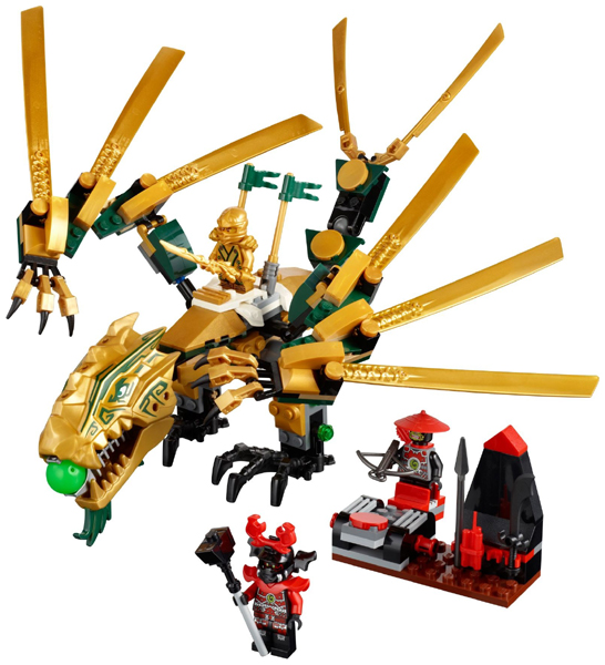 lego golden ninja dragon instructions