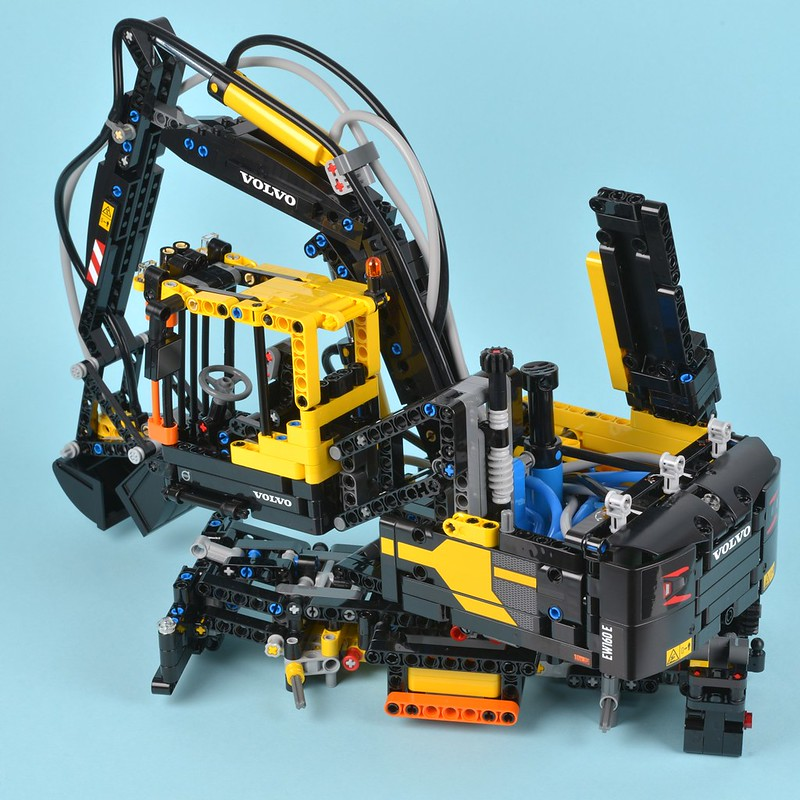 lego technic volvo ew160e instructions