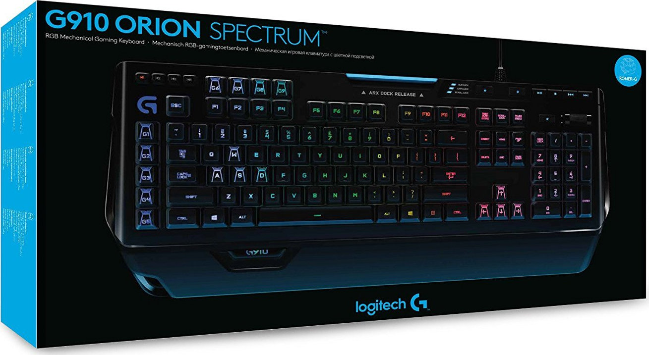 logitech orion spectrum g910 instruction booklet