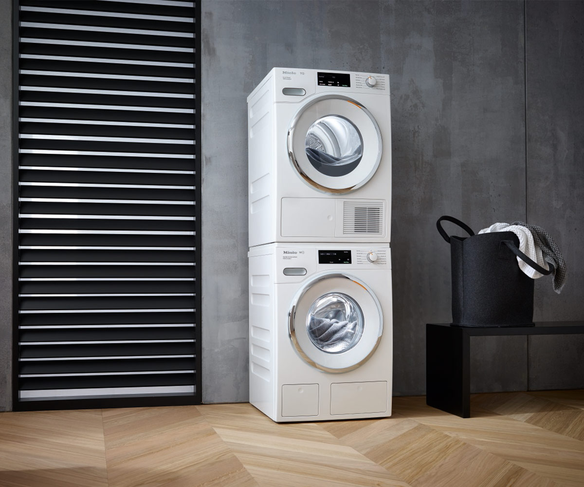 miele washing machine and drier stack instructions