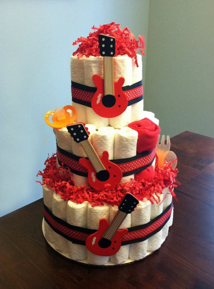 no roll diaper cake instructions