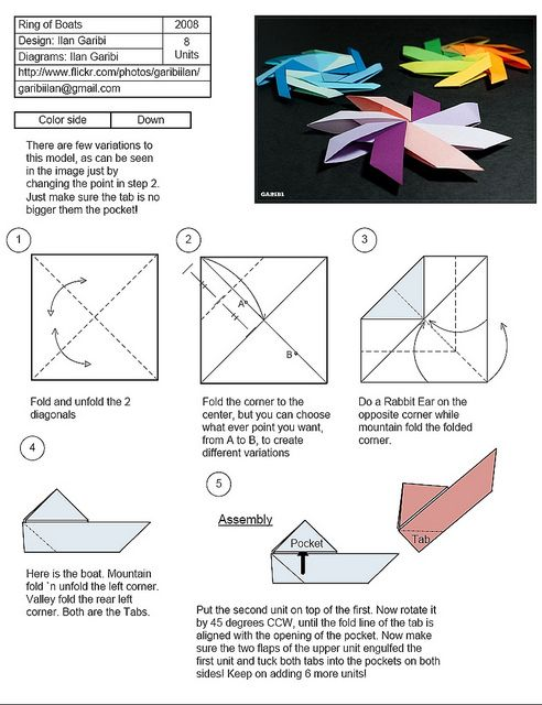 origami magic rings instructions