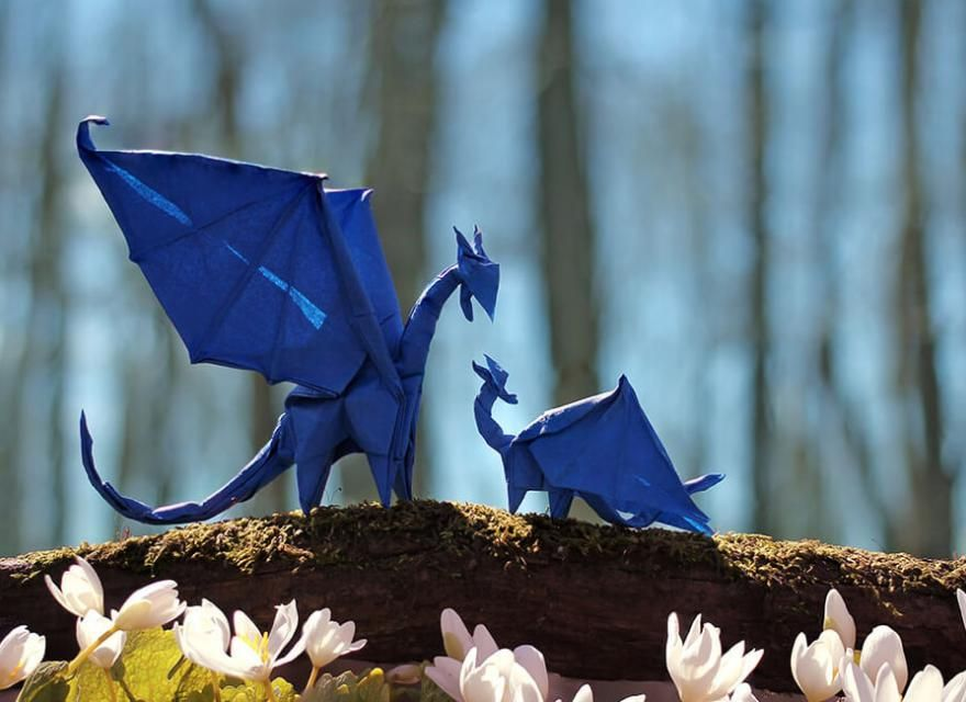 paper dragon folding instructions