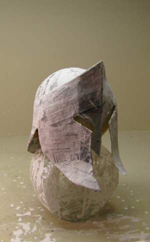paper mache helmet instructions
