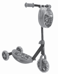 paw patrol 3 wheel scooter assembly instructions