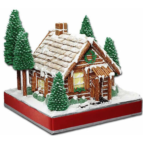 pretzel rod log cabin instructions