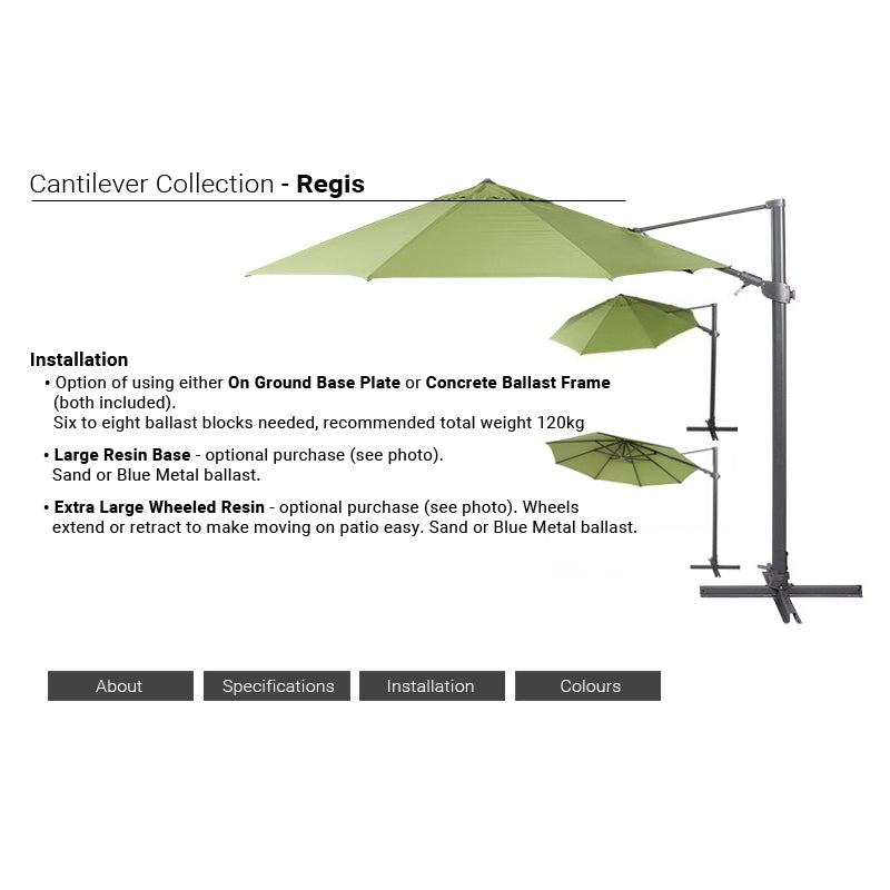 shelta savannah cantilever umbrella instructions