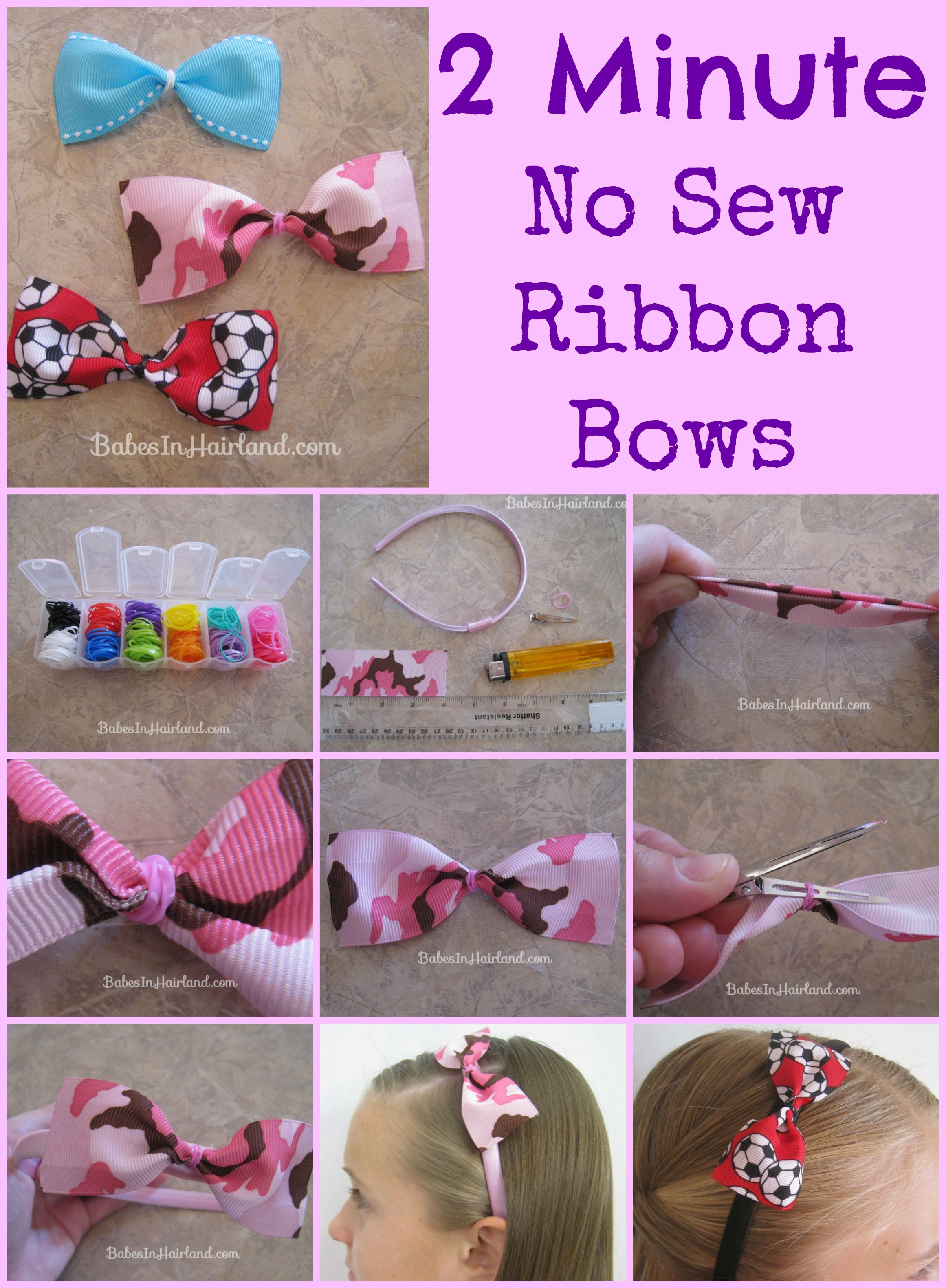 simple hair bow making instructions