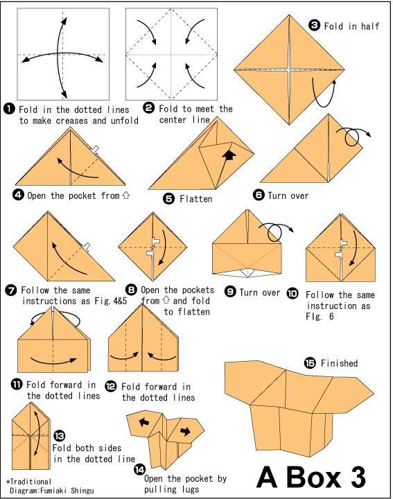 simple origami instructions box