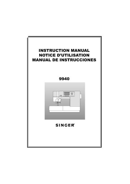 singer promise1409 instruction manual