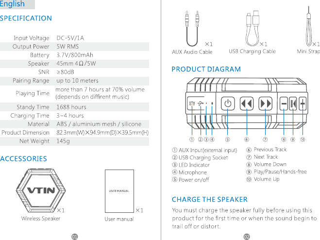 sp-a132 bluetooth speaker instructions