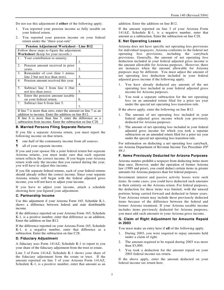 spouse tax adjustment worksheet instructions