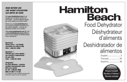 sunbeam food lab dehydrator instructions