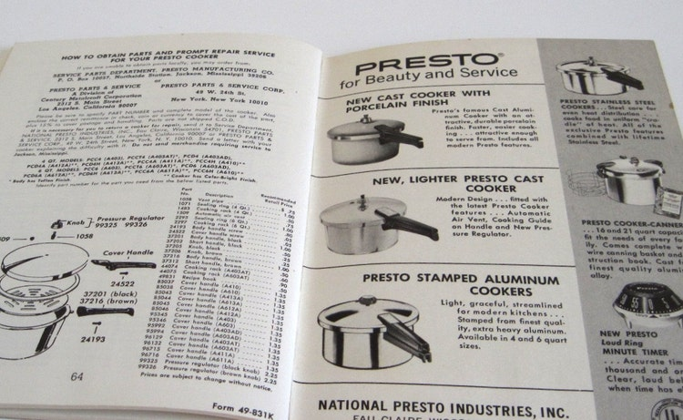 sunbeam pressure cooker instruction manual
