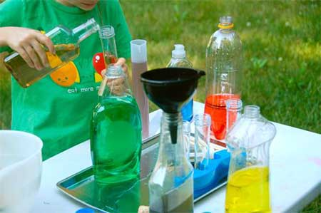 toddler science experiment with instructions