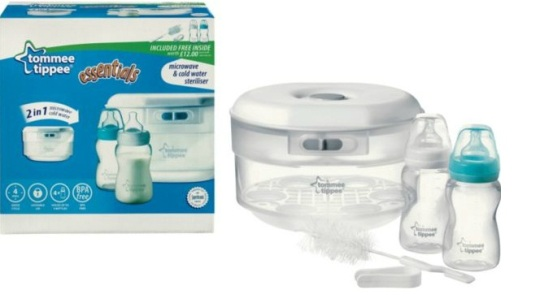 tommee tippee cold water travel steriliser instructions