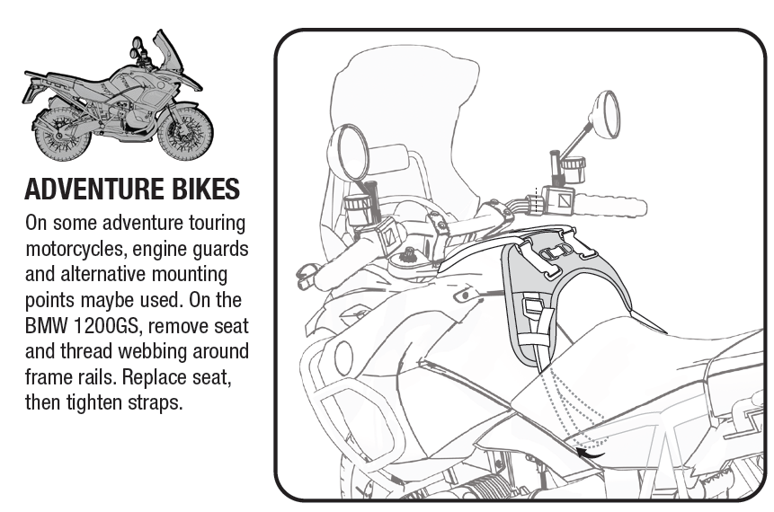 triumph tank bag fitting instructions