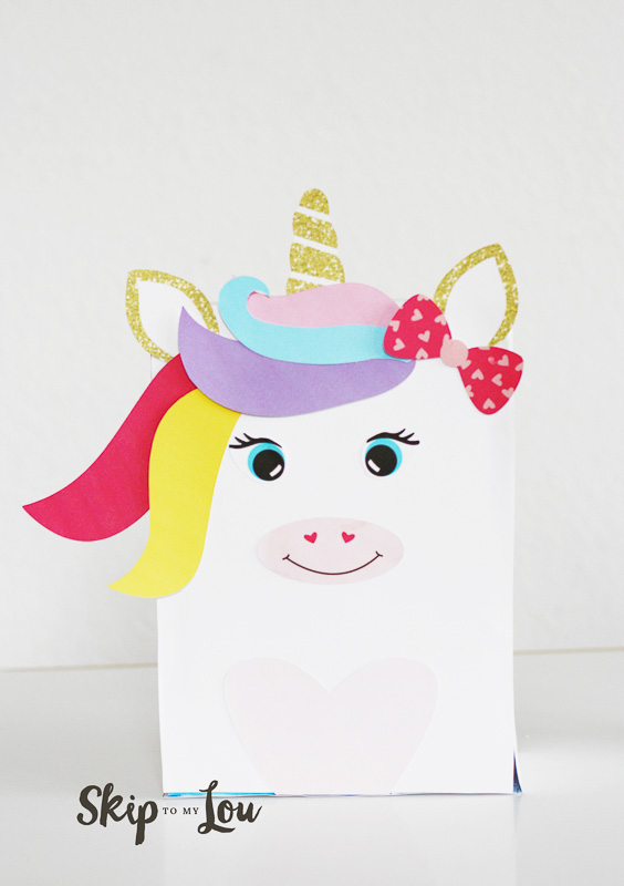 unicorn valentine box instructions