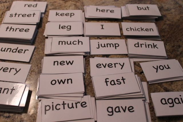voucablery flash card instruction