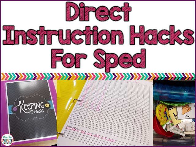 what is direct instruction in special education
