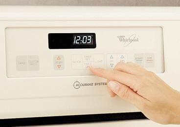 whirlpool accubake gas oven self cleaning instructions