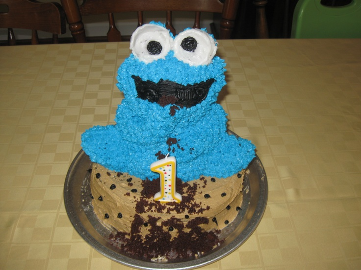 wilton cookie monster cake instructions