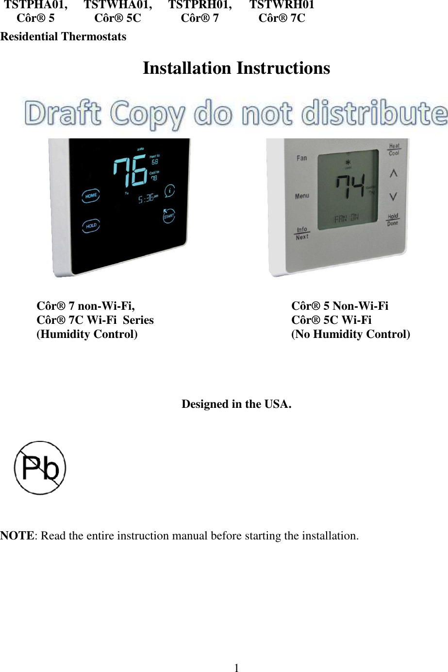 wireless thermostat installation instructions
