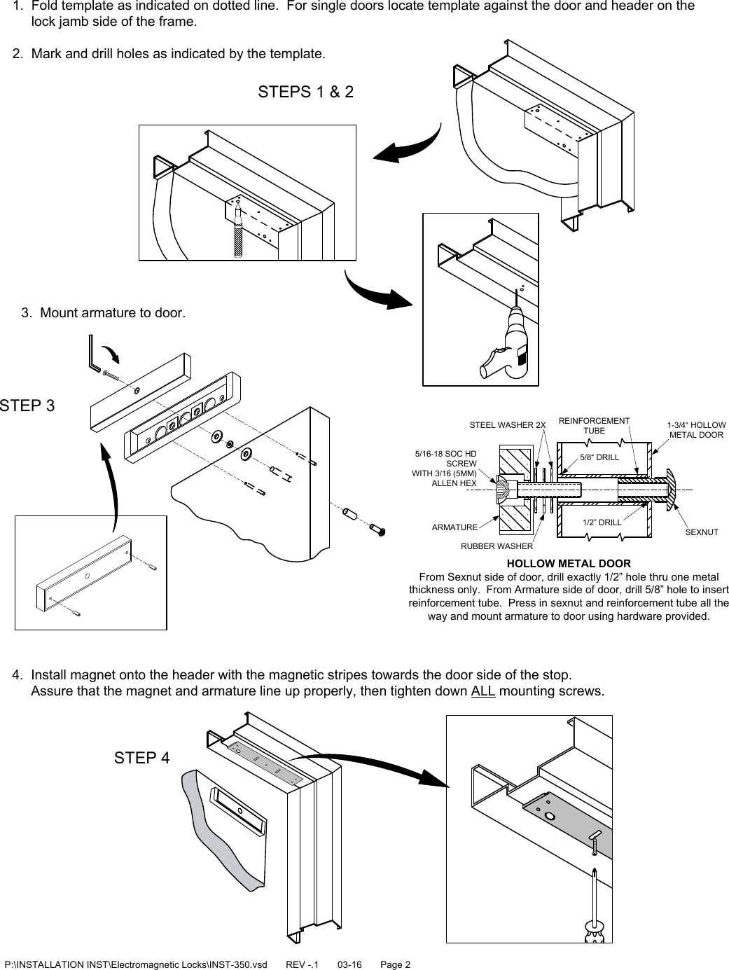 x09 lock installation instructions